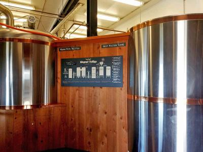 Brewery kettle and hot water tank