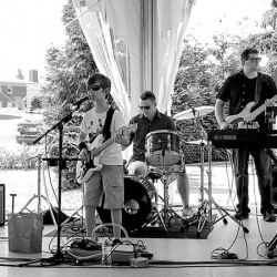 The band Hot Dogs & Gin performing