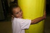 Hug that Pole at Camp