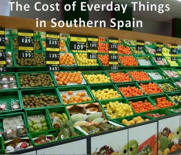 The Cost of Things Spain