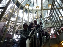 Up we go in the Eiffel Tower