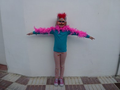 Our beautiful Macaw for Carnival in Almuñécar , Spain