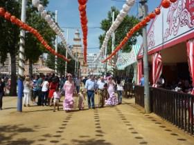 The Feria sidewalks