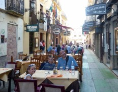 Dinner in Ronda Spain near Plaza Espana