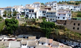Houses built under and into the cliffs - Setenil de las Bodegas