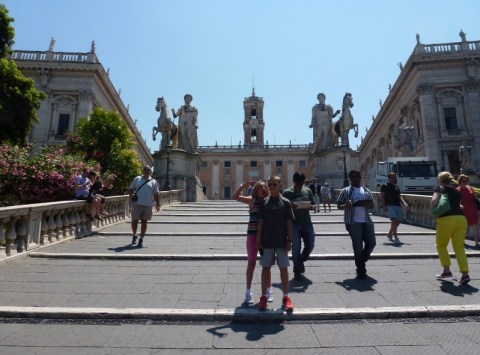 Capitolino Hill Steps Rome with Kids