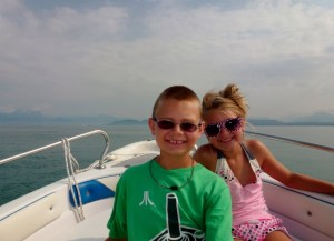 Lake Garda Italy - The kids loved the boat