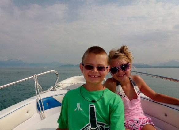 Lake Garda Italy - The kids loved the boat