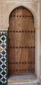 The Alhambra Palace Door Granada, Spain