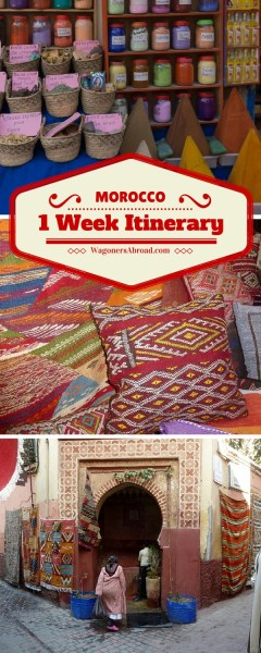 1 Week Itinerary In Morocco - What happens when you plan a 1 Week Itinerary In Morocco and Mother Nature has something else in mind? A change in plans and how we go with the flow. Read more on WagonersAbroad.com