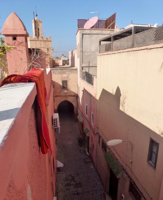 Marrakech Medina from the roof top of our Riad Dar Limoun Amara