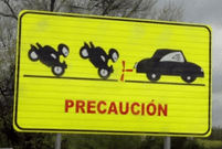 Driving in Spain precaucion