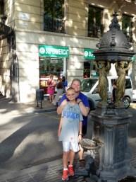 Barcelona Spain - A cool water fountain