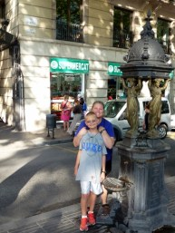 Barcelona Spain - A cool water fountain