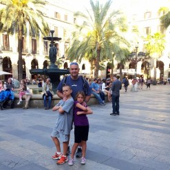 Things to do in Barcelona Spain - Hanging out in the plaza until it is time to head over to the ferry