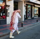 Food in Almuñécar - half a pig in August just walking around