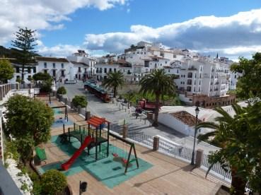 Frigiliana, Spain Town Center and playground
