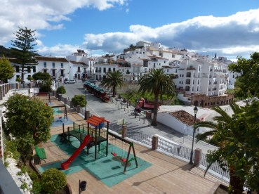 Frigiliana, Spain Town Center and playground