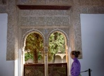 Granada Spain - Alhambra Palace Windows