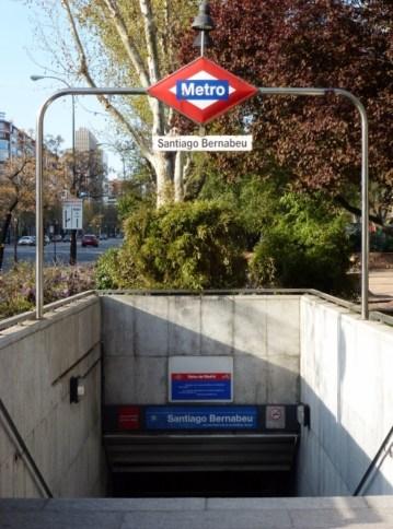 Madrid Spain - Santiago Bernabeu Futbol Stadium Metro Station