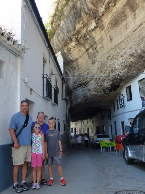 Move to Spain and visit Setenil de las Bodegas Sentinal de las Bodegas Spain - City built into Rocks. We can live in Spain because we have the non lucrative visa. You can apply for one too!
