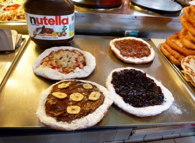 Lángos deep fried dough - Budapest Hungary - The Great Hall Market Tour