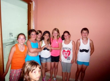 Anyas friends say goodbye Last Day of School Almunecar Spain June 2014