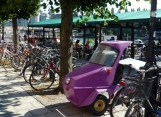 Cute little purple vehicle, reminded us of the movie Cars