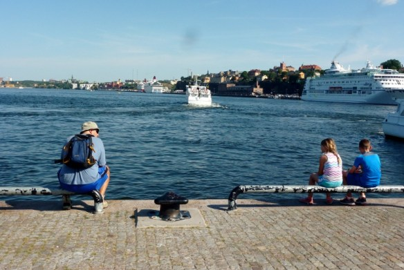 Enjoying the river Stockhom Sweden