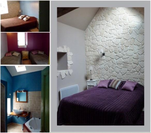 Gite La Chayotte bed and bath