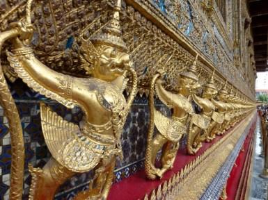 Grand Palce - Emerald Buddha Wall Bangkok Thailand