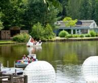 Lake and boats and ball