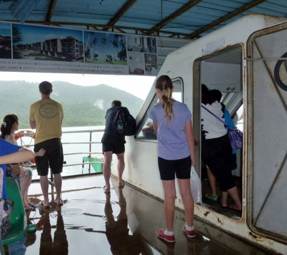 Koh Chang Ferry Backto the mainland in the rain
