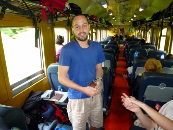 Train Bangkok to Chiang Mai Jonas and his Mate cup