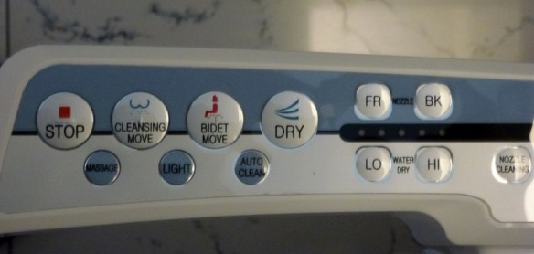 Buttons on the Full Service Toilets - Chiang Mai