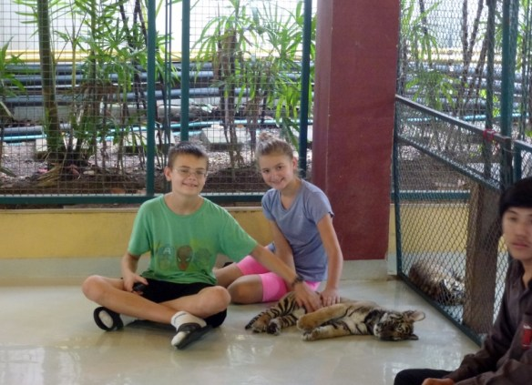 Lars and Anya with Smallest Tiger