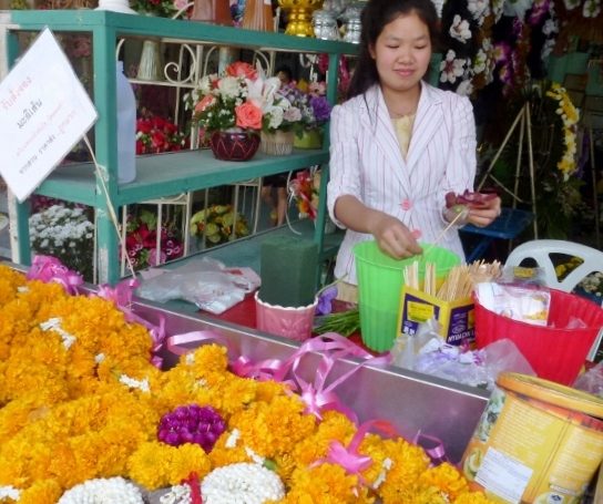Chiang Mai on a stick flowers