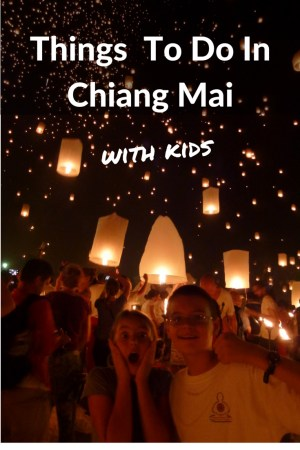Fun things to do in Chiang Mai Thailand with kids. Yi Peng Festival - Including free things to do, Places to stay, Places to eat, educational activities and more! Read more on WagonersAbroad.com