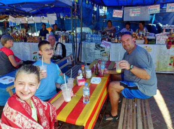 Luang Prabang Morning at the second street stall