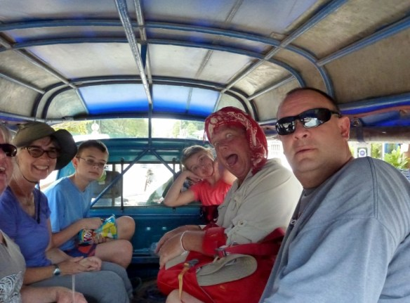 Luang Prabang with Jeff and Georg on the way to Kuang Si Waterfalls
