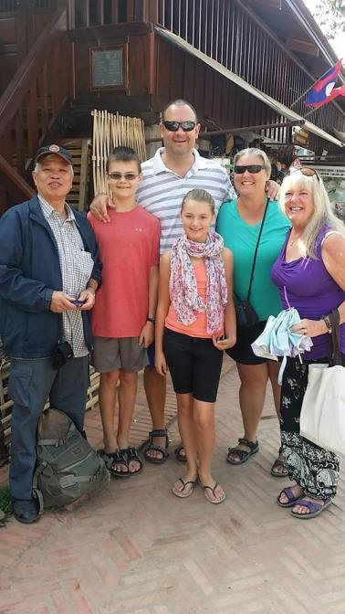 Wagoners Abroad Luang Prabang with owner of Thalinh Guesthouse