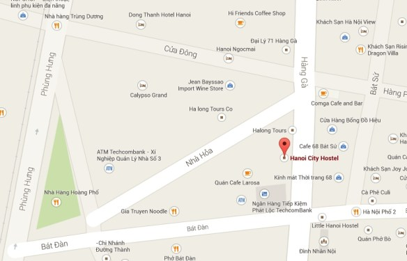 Hanoi City Hostel Location