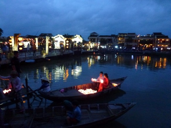 Hoi An Vietnam at night - reflections