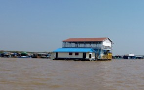 Tara Riverboat Floating Villages and school with playground upstairs