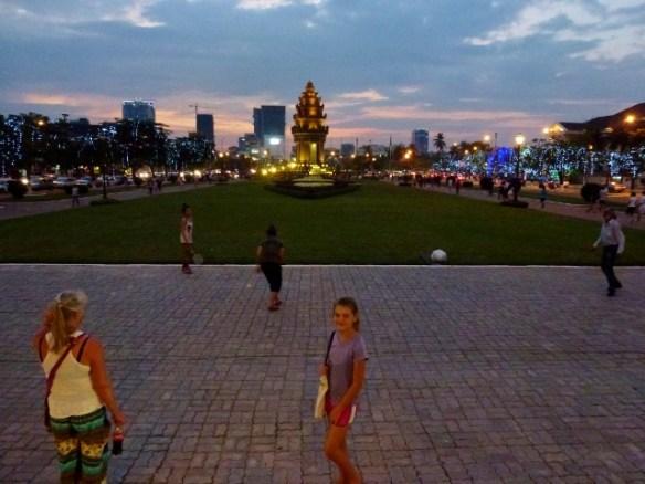 Phnom Penh at dusk
