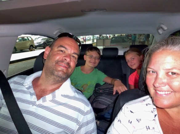 EuropCar Family Selfie in our rental