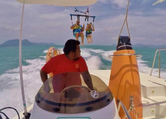 Naam Adventure Langkawi Parasailing Alan and Anya