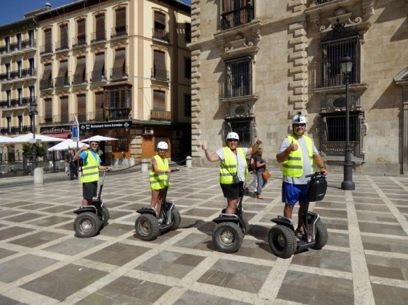 How to ride a segway. Granada-Spain-Segway-Tour-with-EnSegway-Albaicin