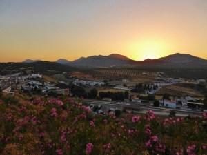 Iznalloz - Granada Spain Sunset. Off the beaten path driving in Spain. Read more on WagonersAbroad.com