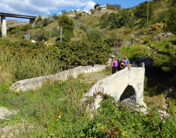 Wagoners Abroad in Almunecar Spain Roman Bridge of Cotobro from the riverbed, from the top road.